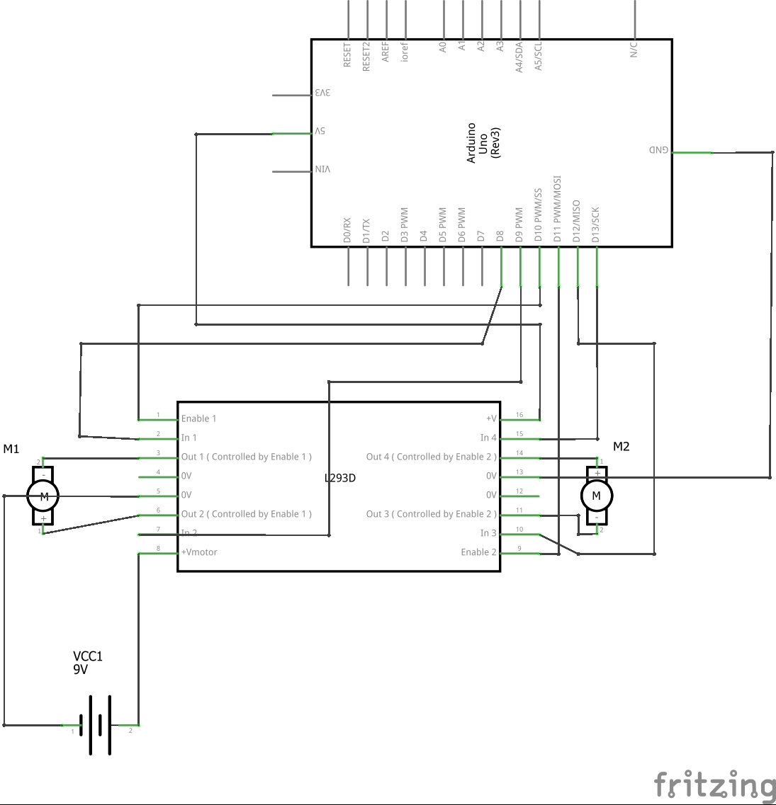 Learn Make Your Own Cheap L293d Motor Drivera Complete Guide For Zero Speed Switch Wiring Diagram Test Circuit With Arduino Schem